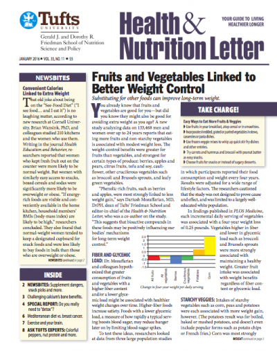 The Tufts University Health and Nutrition Letter