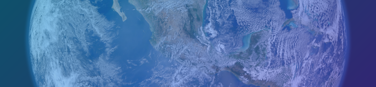 A close up satellite image of the earth