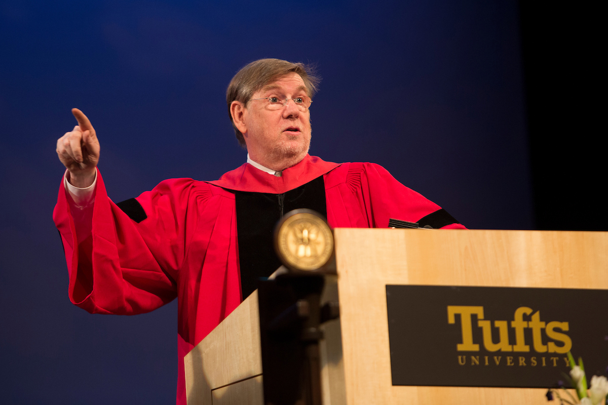 Dr. David A. Kessler giving the Commencement speech at the Friedman School on May 21st, 2017