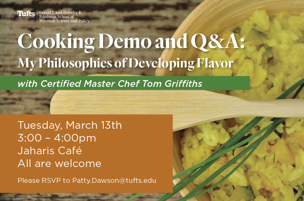 cooking demo flyer