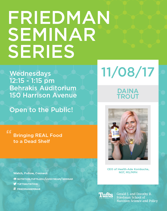 Poster for Daina Trout seminar