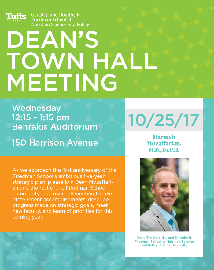 dean's town hall poster