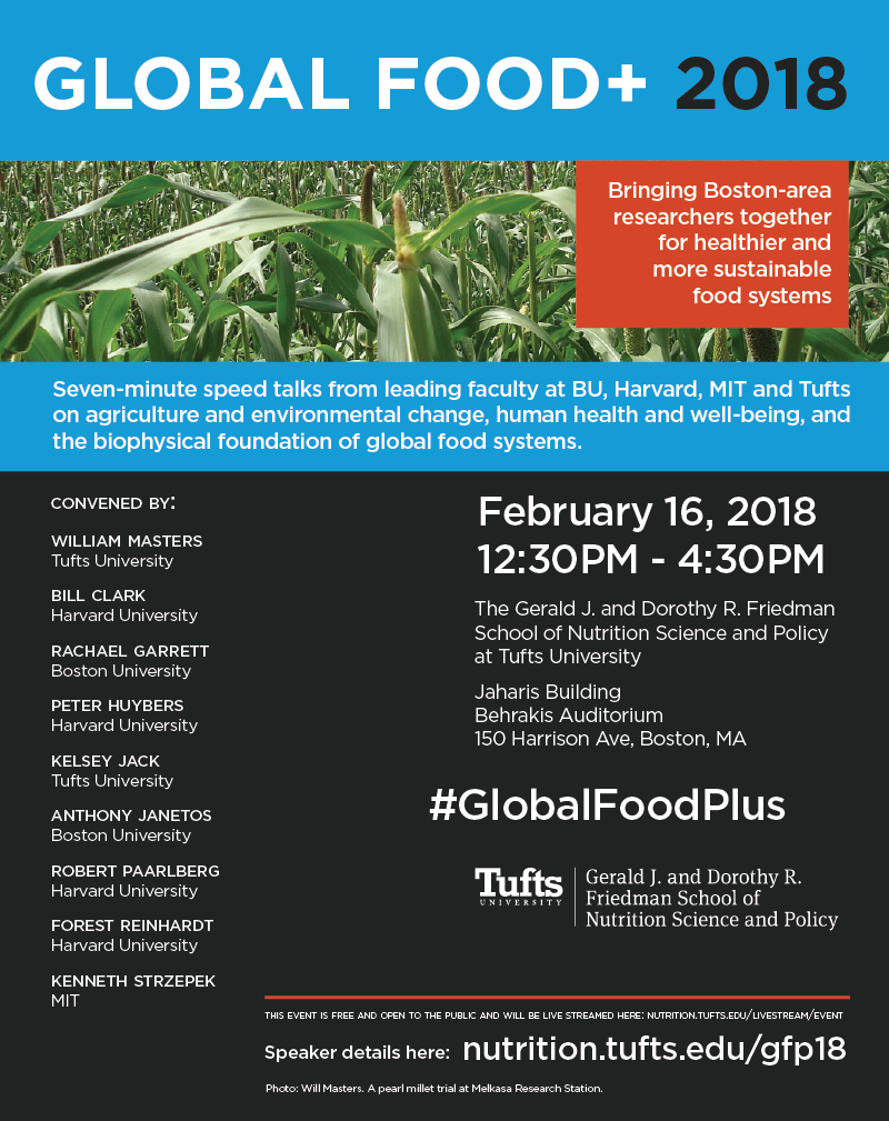 Poster for the Global Food Plus Symposium 2018. All info on the poster can be found at the link below.