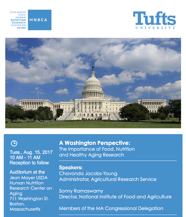 flyer for the event shows a picture of a Washington D.C. building with the event information included here