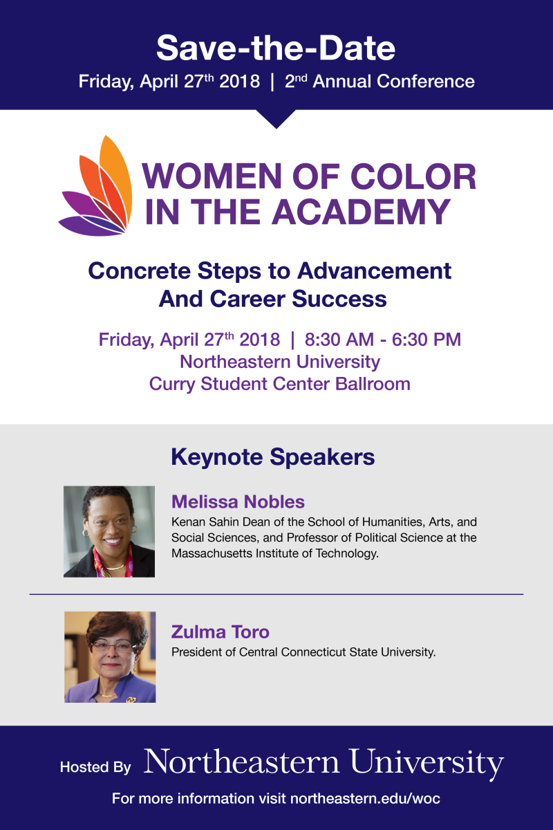 Save the date- Northeastern University Second Annual Women of Color in the Academy Conference