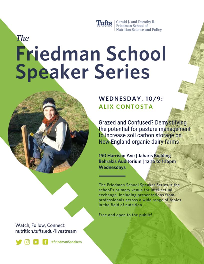 Friedman Speaker Series - Alix Contosta