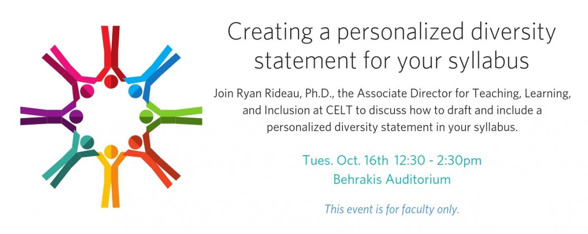 Diversity Statement | Creating A Personalized Diversity Statement For Your Syllabus