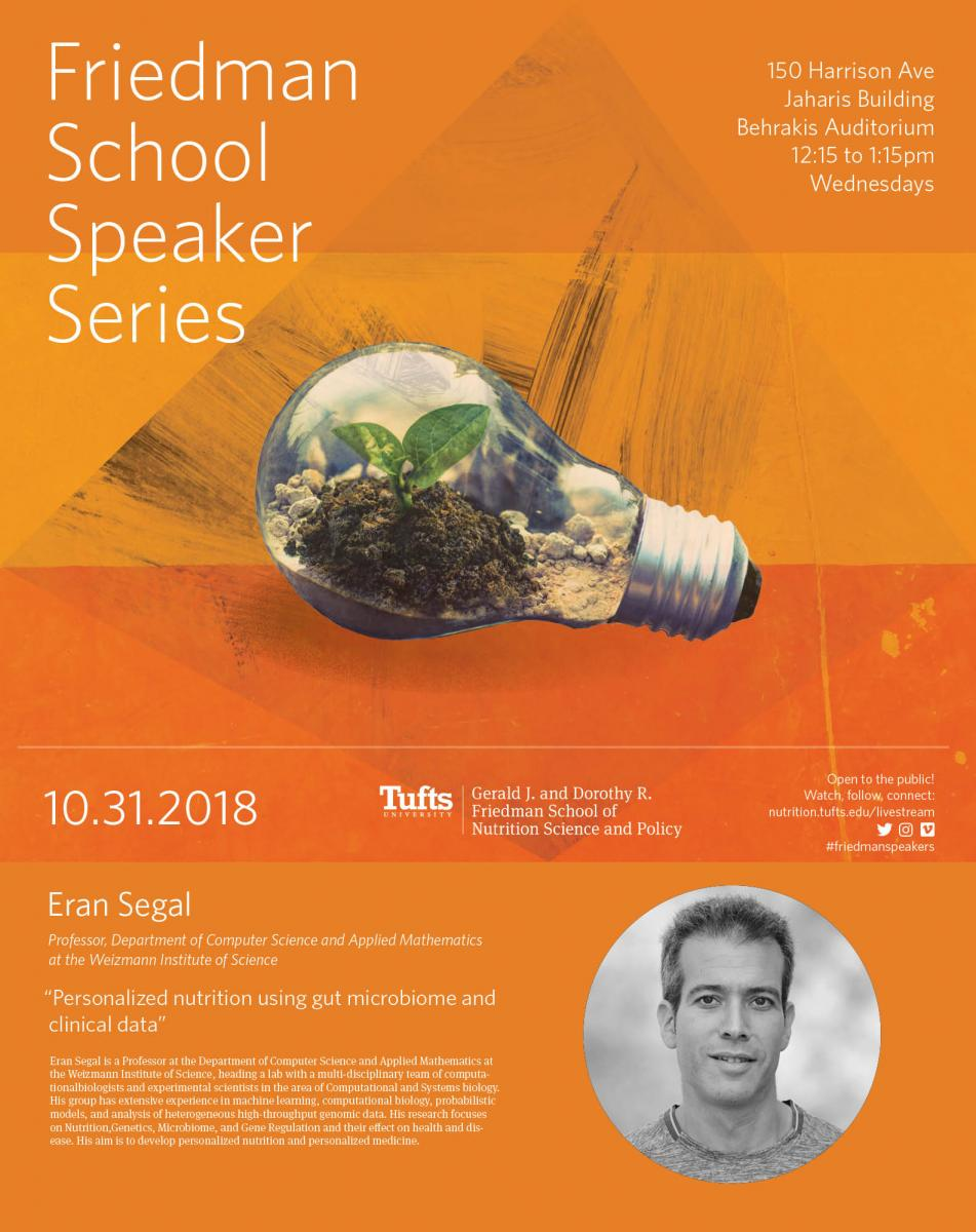 Friedman Speaker Series: Eran Segal | Friedman School of