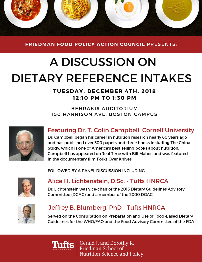 FFPAC Presents: A Discussion on Dietary Reference Intakes | Friedman