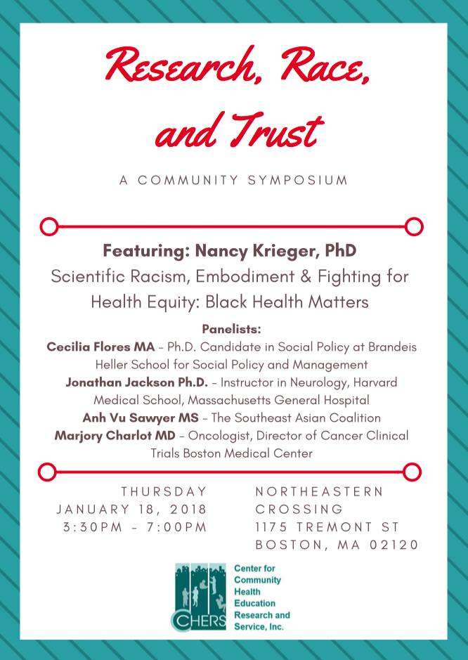 Research, Race, and Trust event poster