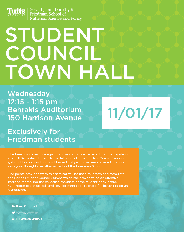 student council town hall poster