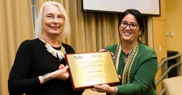 Feinstein Faculty and Alum Honored at Institute for Human Security Event