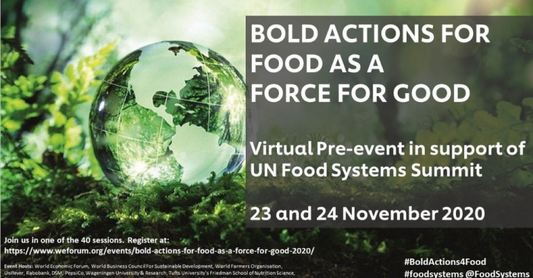 Bold Actions for Food as a Force for Good